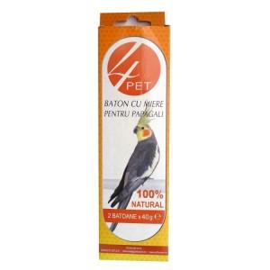 Baton miere pentru papagali, 4Pet, 2 buc 76g