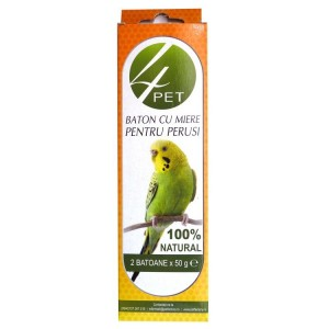 Baton miere pentru perusi, 4Pet, 100g