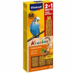 Batoane pentru perusi, Vitakraft Kracker Miere, 60 g + 30 g