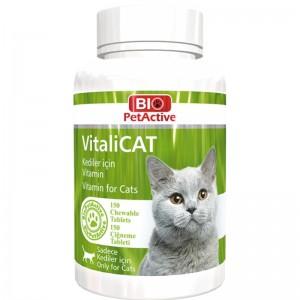 Vitamine pentru pisici, Bio PetActive Vitali Cat, 150 tbl