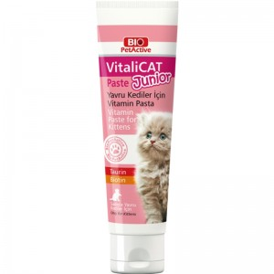 Pasta cu vitamine pentru puii de pisica, Bio PetActive Vitali Cat Junior Paste, 100 ml