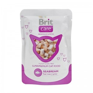 Brit Care Cat plic cu peste dorada, 80 g