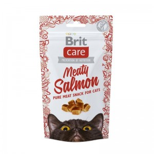 Brit Care Cat Snack Meaty Salmon, 50 g