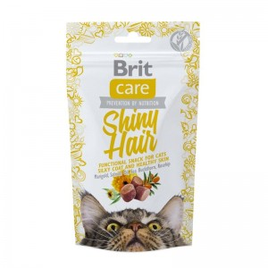 Brit Care Cat Snack Shiny Hair, 50 g