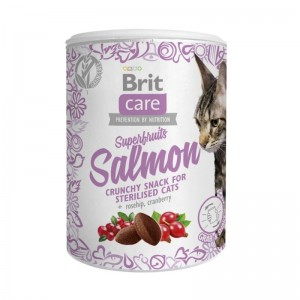 Brit Care Cat Snack Superfruits Salmon, 100 g