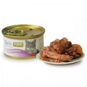 Brit Care Cat tuna and salmon, conserva, 80 g