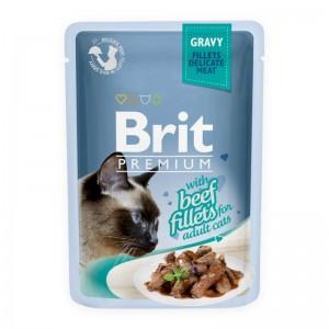 Brit Cat Delicate Beef in Gravy, 85 g