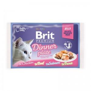Brit Cat MPK Delicate Dinner plate in Jelly, 4 x 85 g