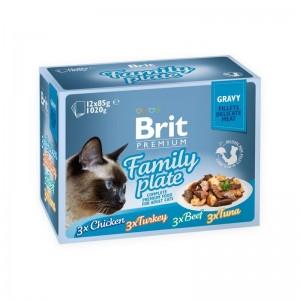 Brit Cat MPK Delicate Family plate in Gravy, 12 x 85 g