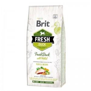 Brit Fresh Duck with Millet Adult Run & Work, 12 kg