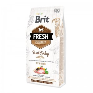 Brit Fresh Turkey with Pea Adult Fit & Slim, 12 kg