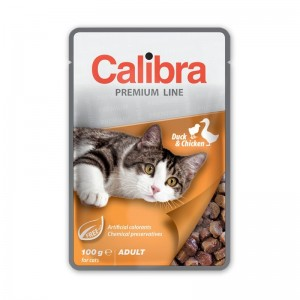 Calibra Cat Pouch Premium Adult Duck & Chicken, 100 g