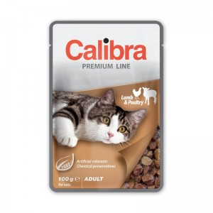 Calibra Cat Pouch Premium Adult Lamb & Poultry, 100 g
