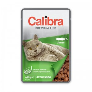 Calibra Cat Pouch Premium Adult Sterilized Salmon, 100 g
