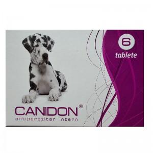 Canidon 6 tablete / cutie - antiparazitar intern pentru caini