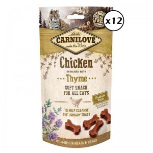 Carnilove Cat Semi Moist Snack Chicken with Thyme, 12 x 50 g