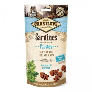 Carnilove Cat Semi Moist Snack Sardine with Parsley, 50 g