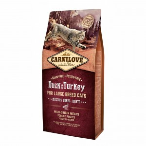 Carnilove Duck & Turkey Large Breed Cats, 6 kg