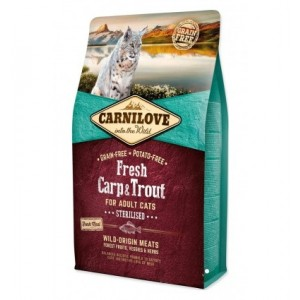 Carnilove Fresh Carp & Trout Sterilised For Adult Cats, 2 kg