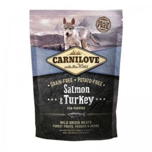 Carnilove Salmon and Turkey for Puppies, 1.5 kg