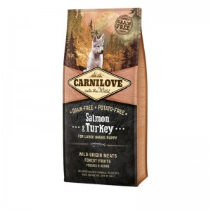 Carnilove Salmon & Turkey for Large Breed Puppy, 12 kg