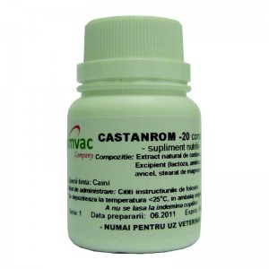 Supliment nutritiv CASTANROM 20 CP