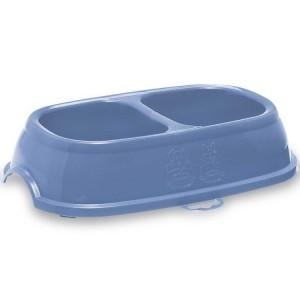 Castron dublu plastic, Stefanplast Break 11, albastru, 2 x 0.4L