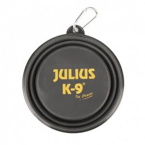 Castron pliabil silicon negru, Julius-K9, 350 ml