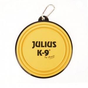 Castron pliabil silicon galben, Julius-K9, 350 ml