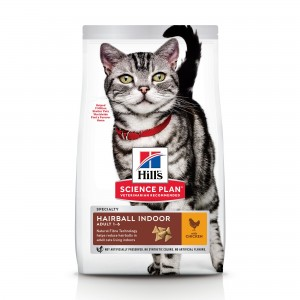 Hill's SP Adult Hairball Control & Indoor hrana pentru pisici cu pui