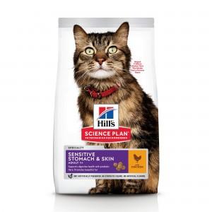 Hill's SP Adult Sensitive Stomach & Skin hrana pentru pisici