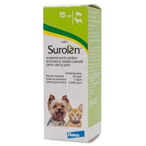Surolan, solutie otica, 15 ml