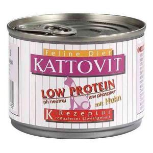 Conserva Kattovit Low Protein cu Peste 175 g