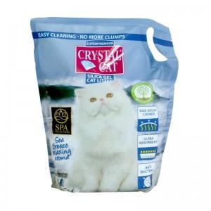 Crystal Cat nisip silicatic Sea Breeze, 3.8 l