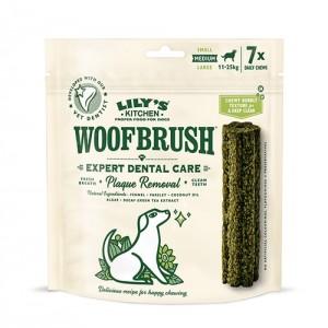 Gustari dentare caini, Lily's Kitchen, Woofbrush M Natural Dental Dog Chew, 196 g