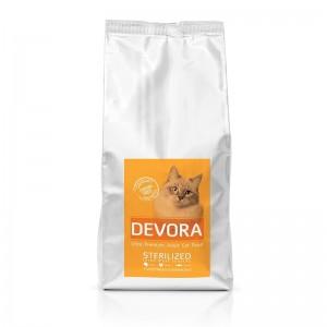 Devora Grain Free Sterilized, Curcan, Pui si Hering, 400 g