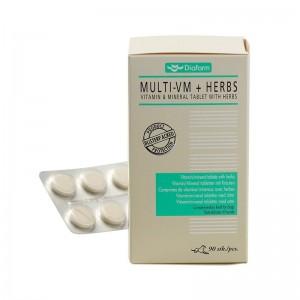 Diafarm Vitamine Minerale cu Plante, 90 tablete