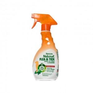 Spray natural antiparazitar, Tropiclean Flea & Tick, 473ml