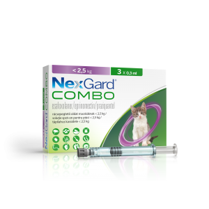 NexGard Combo solutie spot-on pentru pisici < 2.5 kg