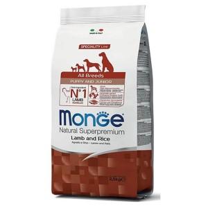 Monge Natural Superpremium All Breeds Puppy, miel si orez, 2.5 kg