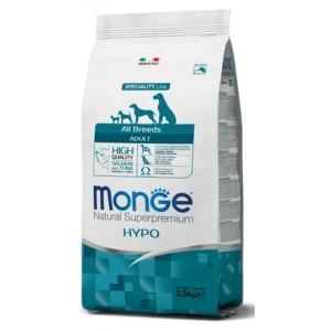 Monge Natural Superpremium All Breeds Adult, Hypoallergenic, 2.5 kg