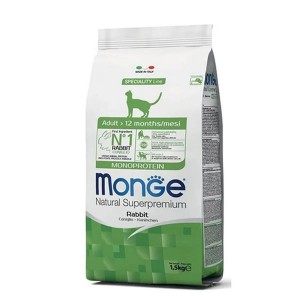 Monge Natural Monoprotein, Adult, iepure, 1.5 kg