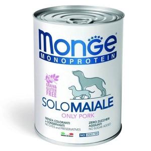 Monge Dog Solo Pate, porc, 400 g