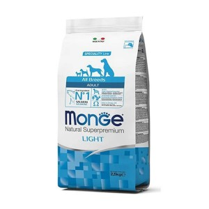 Monge Natural Superpremium All Breeds Adult Light, somon si orez, 12 kg