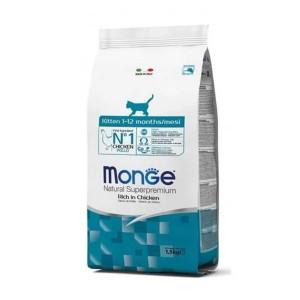 Monge Natural, Kitten, pui, 1.5 kg