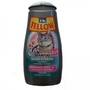 Sampon pentru pisici, Fellow 2in1, 250 ml