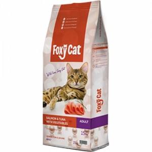 Hrana uscata pisici, Foxy Cat, Somon, Ton si Legume, 15 kg