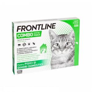 Frontline Combo Pisica - 3 Pipete Antiparazitare