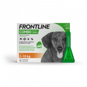 Frontline Spot On Caine S (2-10 kg) - 3 Pipete Antiparazitare
