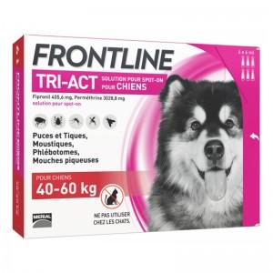 Frontline Tri-Act (40-60 kg) - 3 Pipete Antiparazitare